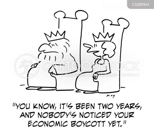 economic boycott cartoon