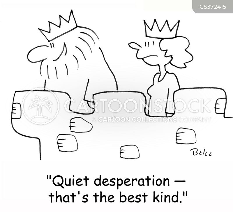 quiet desperation cartoon