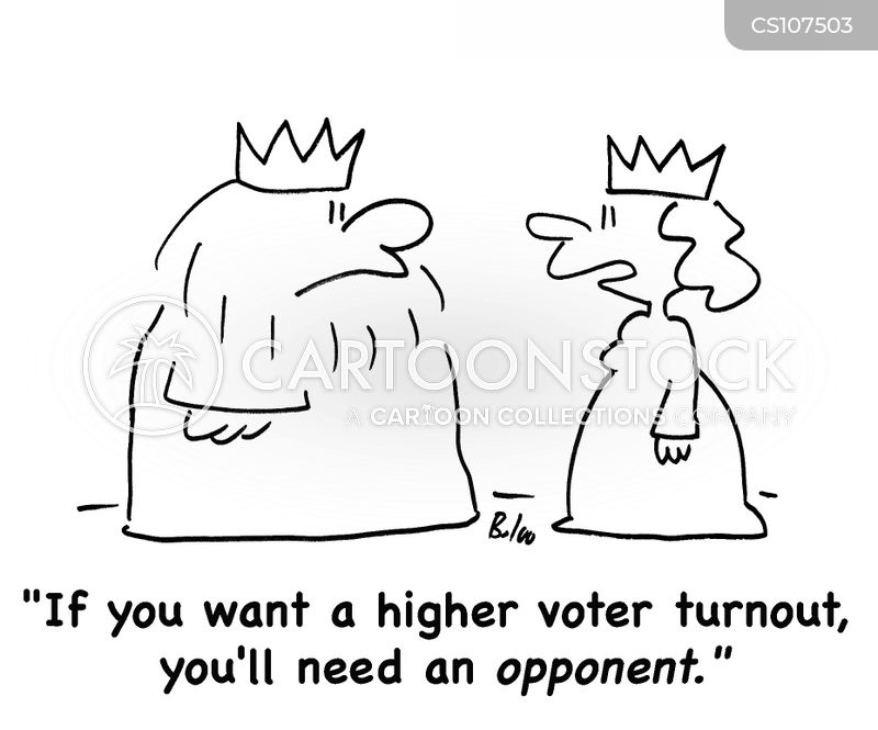 political opponents cartoon