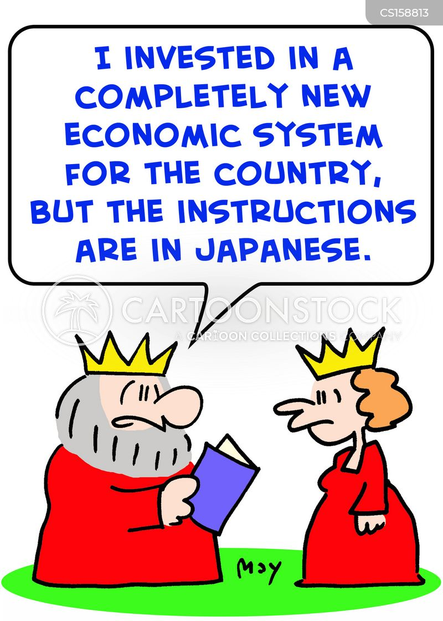 economic system cartoon