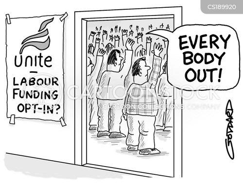 labour unions cartoon