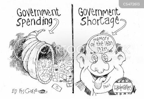 federal funding cartoon