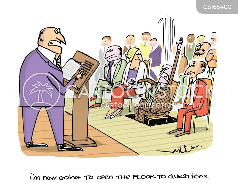 presentations cartoon