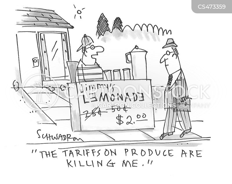 import tariffs cartoon
