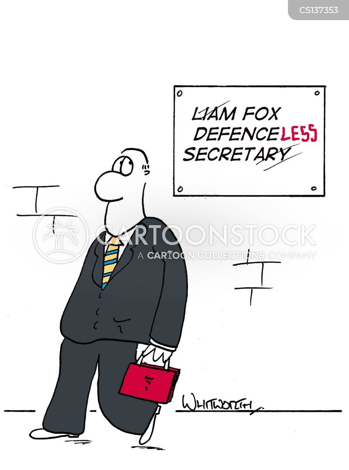 secretary of defence cartoon