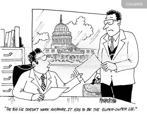big lie cartoon