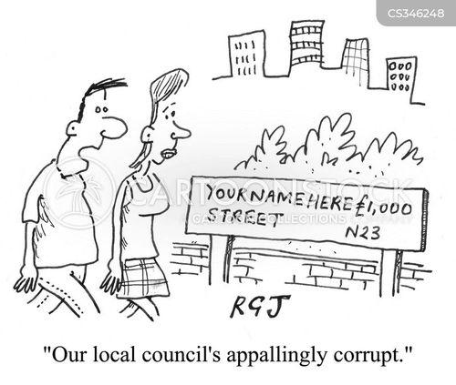 road name cartoon