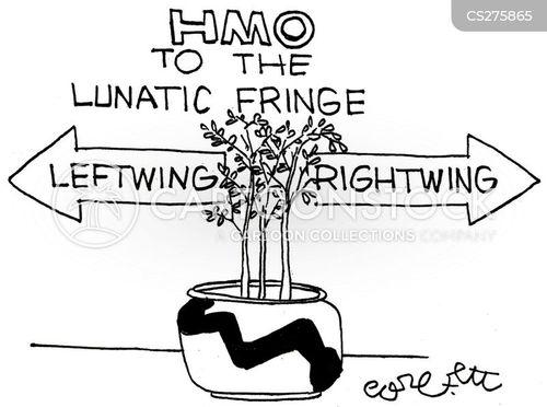 extreme left cartoon