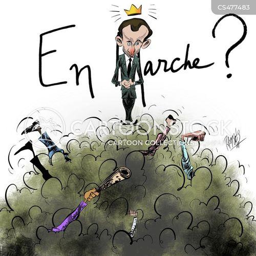 macron cartoon