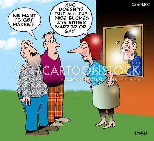 same-sex couple cartoon