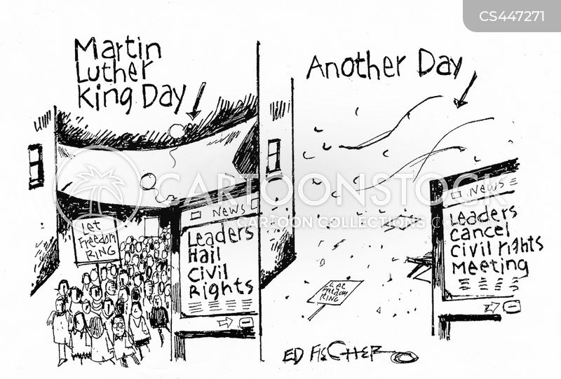 martin luther king cartoon