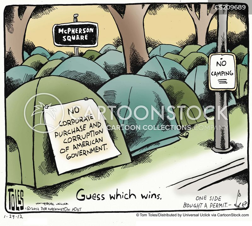 corporate influence cartoon