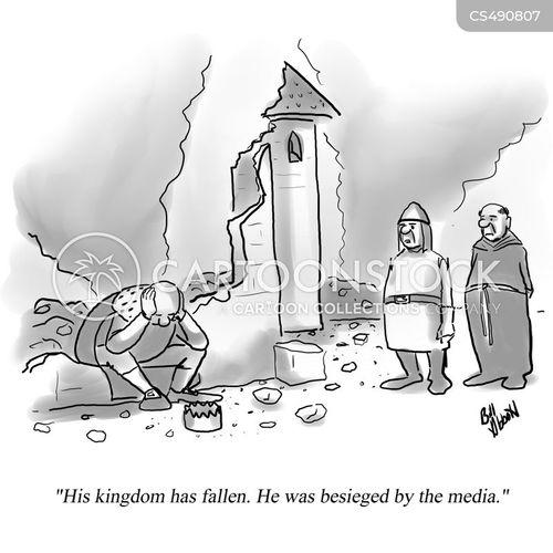 press frenzy cartoon