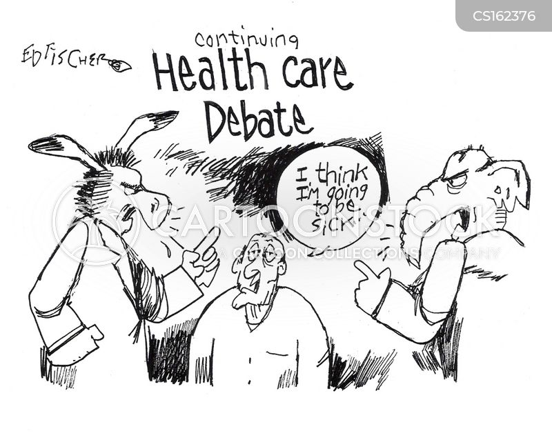 healthcare debate cartoon