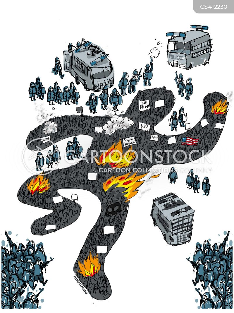 race riots cartoon