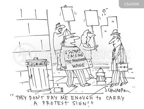 picket lines cartoon