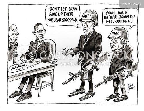 iran nuclear talks cartoon