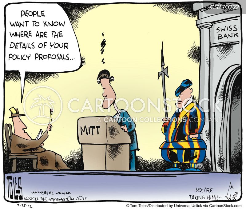 swiss bank accounts cartoon
