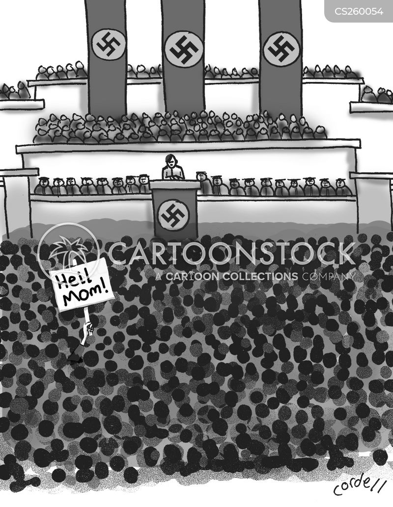 sign in the crowd cartoon
