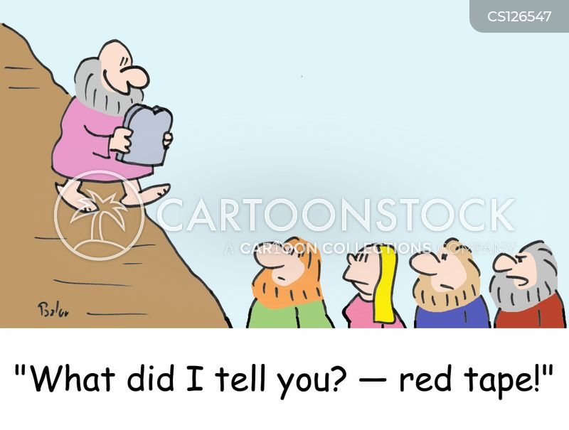 red tapes cartoon