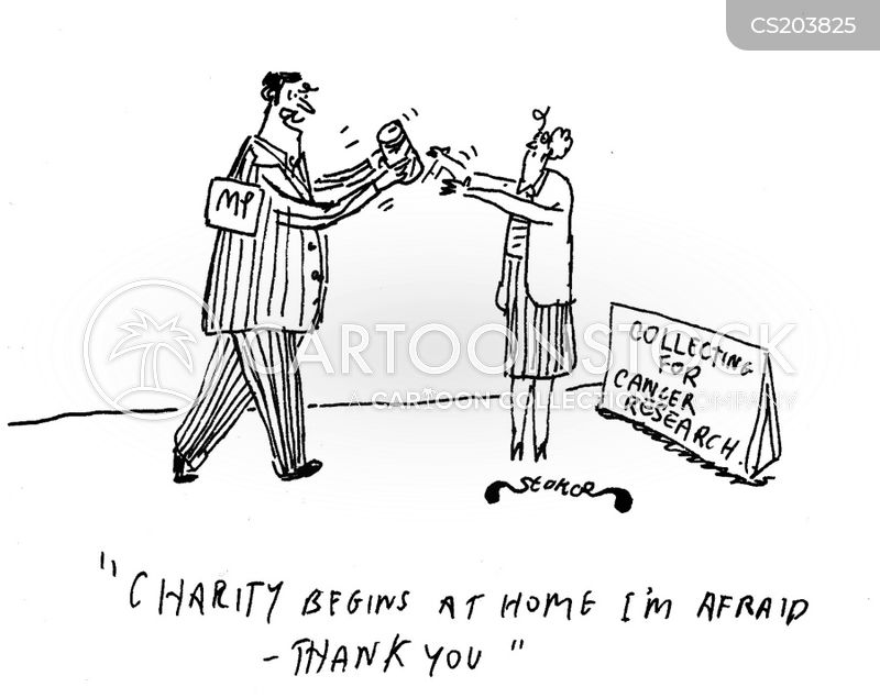 charity donations cartoon