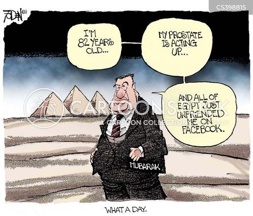 mubarak cartoon