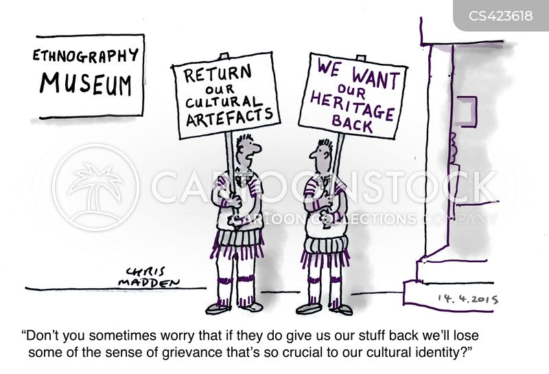 museum collections cartoon