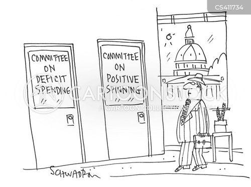 national deficit cartoon