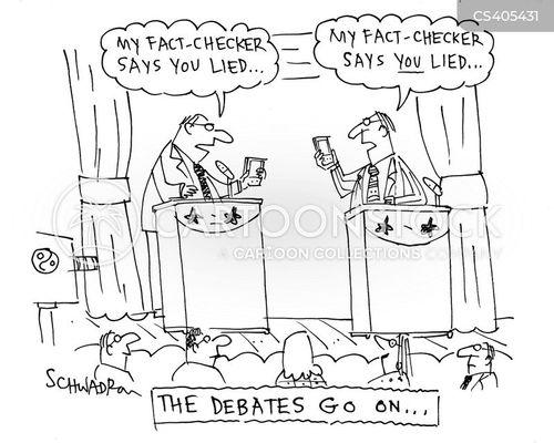 fact checker cartoon