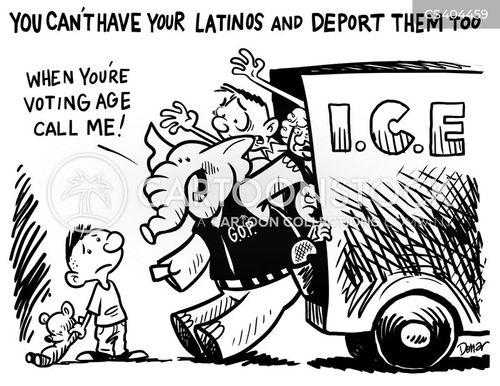 latino vote cartoon