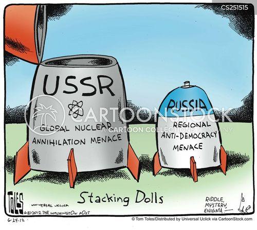 nuclear threats cartoon