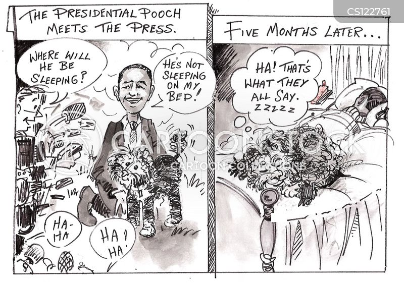 presidents pet cartoon