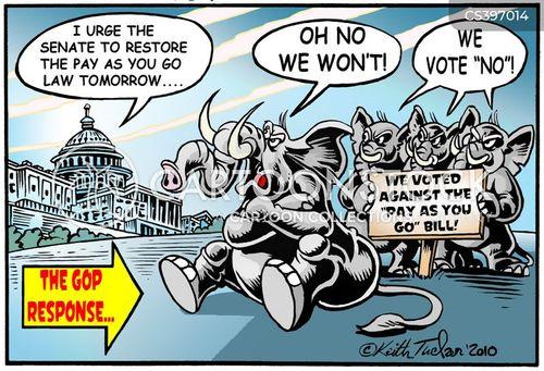 passing bills cartoon