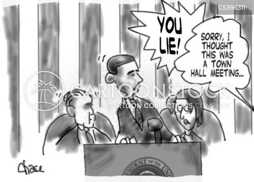 town hall meeting cartoon
