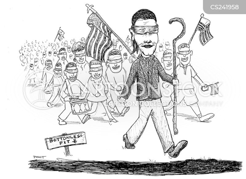 blind leading the blind cartoon