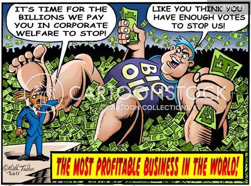 big oil cartoon