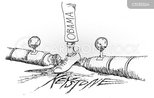 keystone pipeline cartoon