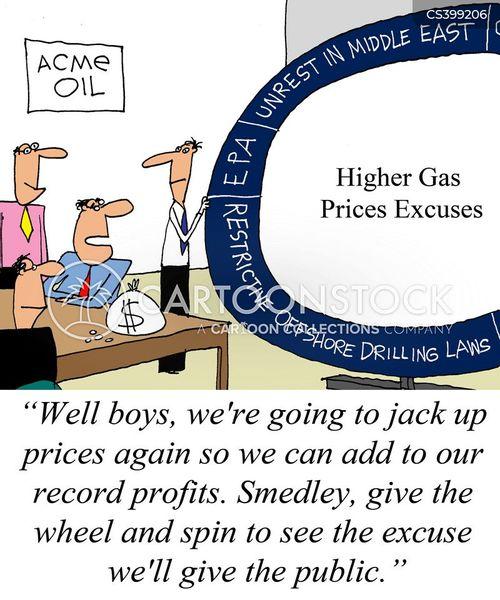 petrol companies cartoon
