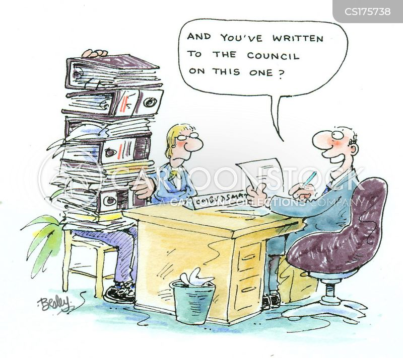 letter writer cartoon