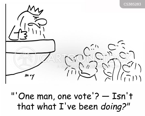one man one vote cartoon