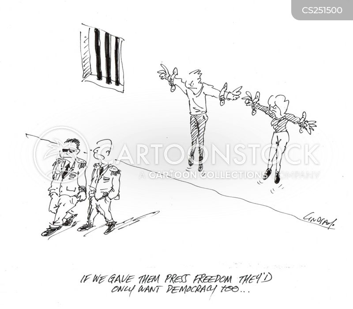 oppress cartoon