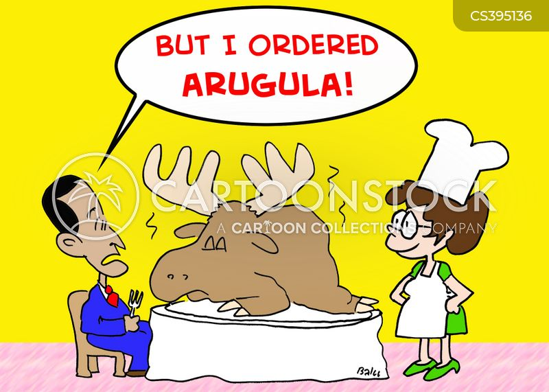 arugula cartoon