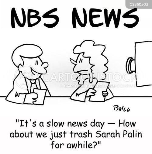 slow news day cartoon