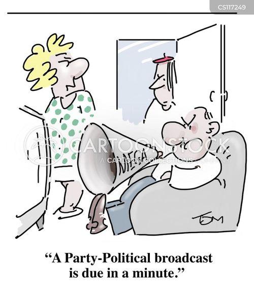 political broadcasts cartoon