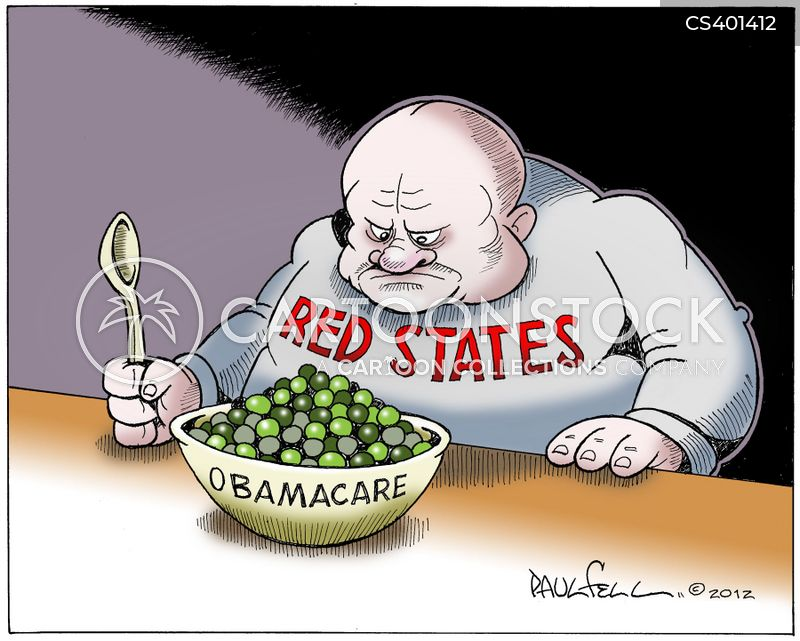 red state cartoon