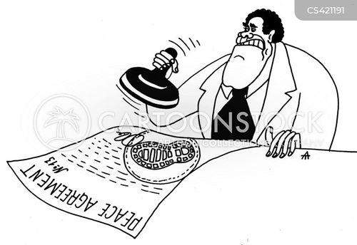 peace treaty cartoon