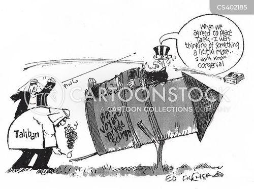 peace negotiation cartoon
