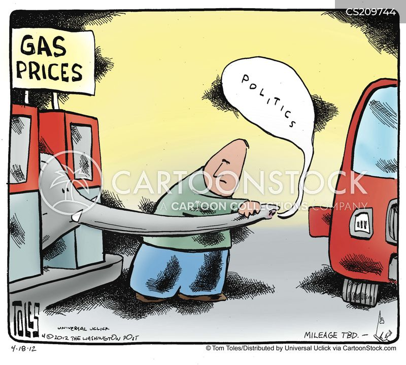 gas pump cartoon