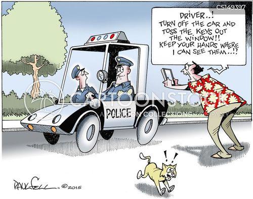 cop violence cartoon