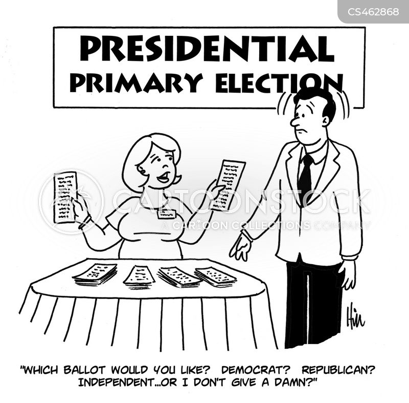 presidential primary cartoon
